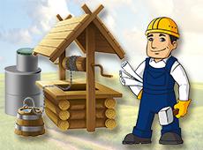 Копка, монтаж питьевых и канализационных колодцев