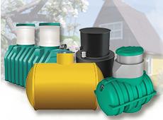 Герметичные пластиковые септики для канализационных стоков